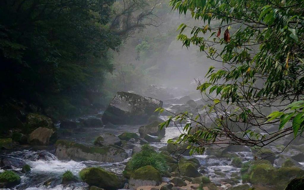 雄川の滝遊歩道からの景色